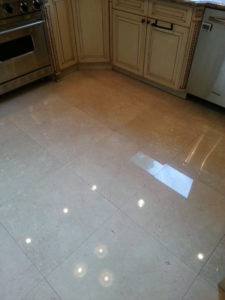 Installation of marble flooring
