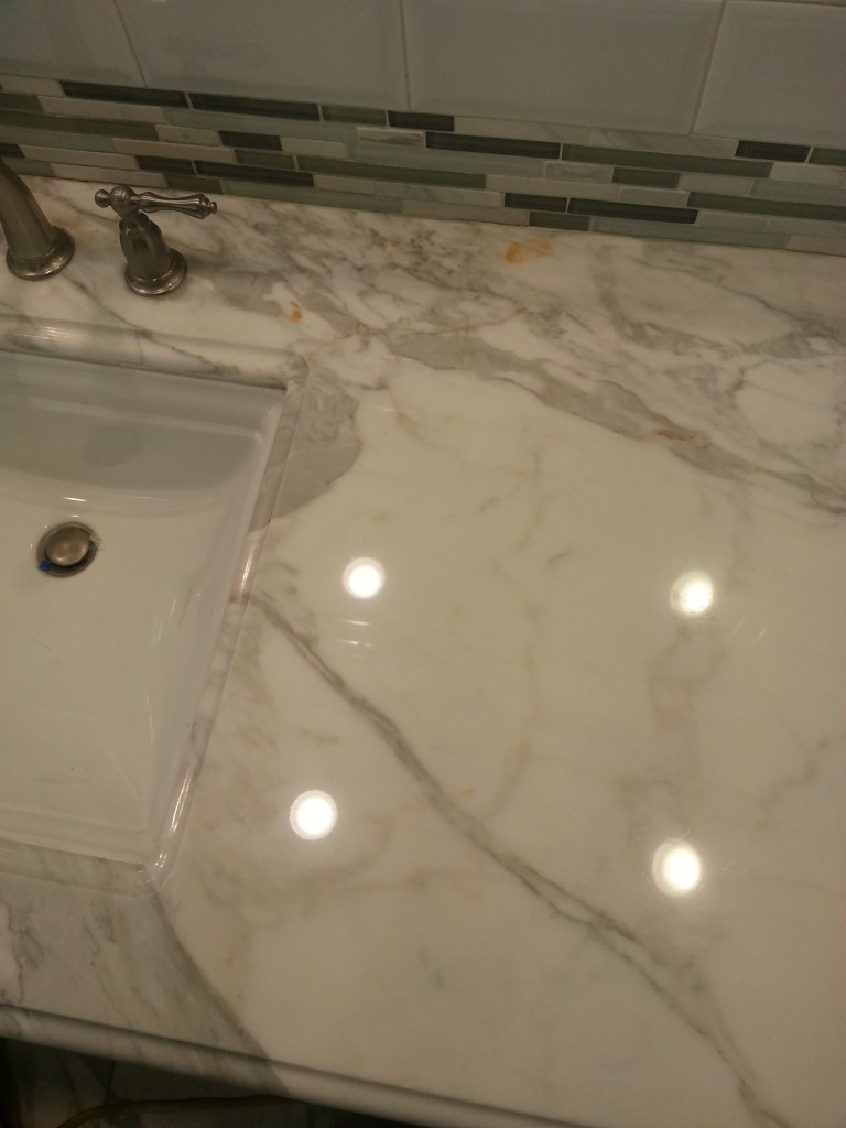 We use the correct chemical to clean marble floor