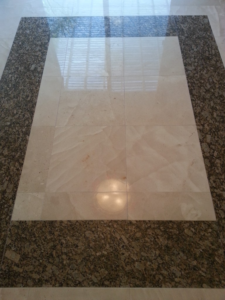 how to shine marble floors