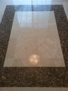 Marble tile entryway