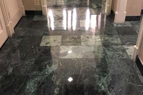 Stripping marble floors