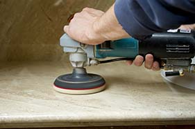 All staff are trained with marble hand grinder
