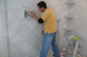 We use the best grout for marble tile